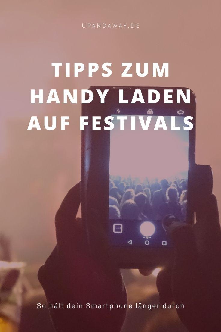 Handy auf Festival mit externem Akku oder Powerbank aufladen
