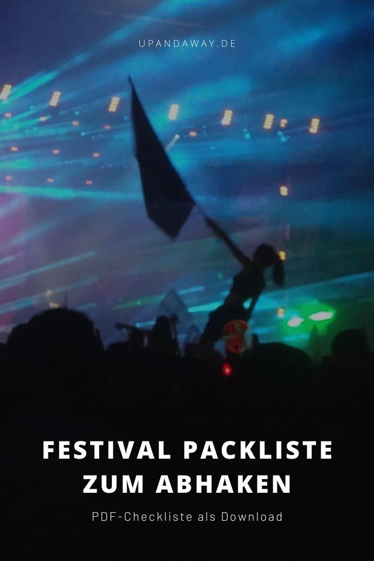 Festival Packliste als PDF-Checkliste zum Abhaken