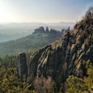 Schrammsteine im Nationalpark Sächsische Schweiz