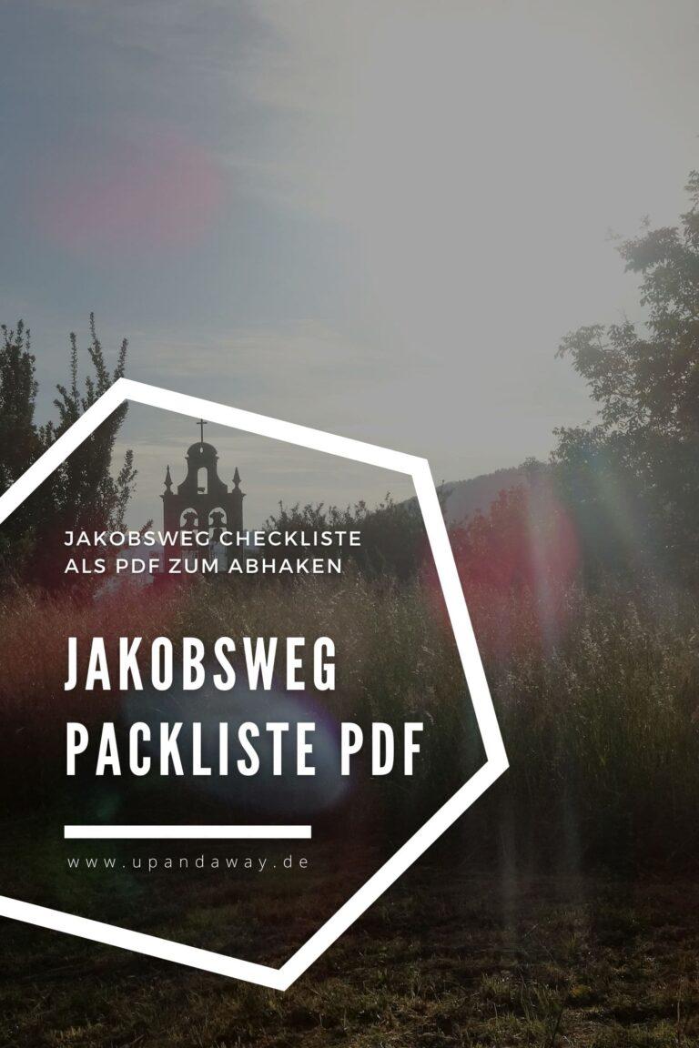 Meine Pilger Packliste für den Jakobsweg als PDF zum Abhaken
