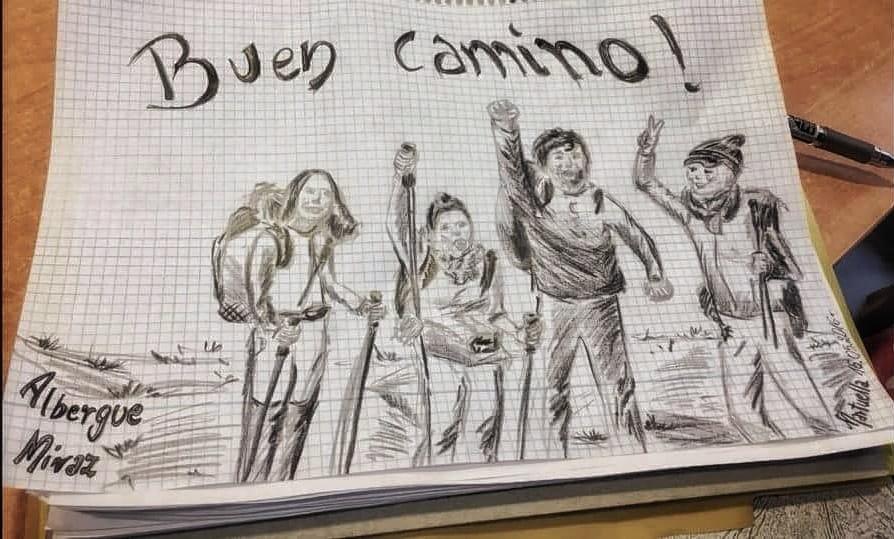 Zeichnung von mir auf dem Jakobsweg