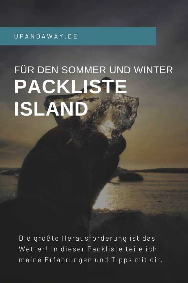 Die Packliste für Island